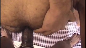 Bouncing on his big black cock - East Harlem Productions
