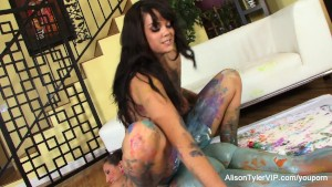 Painted lesbians with Alison and Kelly Divine