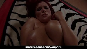 Mature redhead slag Kamila gets screwed hard