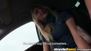 Stranded Teens - Victoria is shy on camera