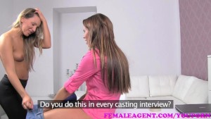 FemaleAgent Bisexual beauty in passionate sensual lesbian casting
