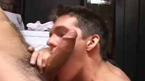 2 guys cum on each other s faces - Factory Video