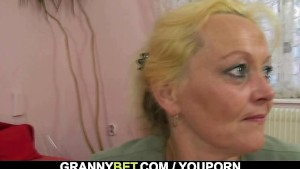 Granny is picked up and fucked