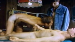 Pool Room Threeway from Vintage Gay Porn TRUCK STOP (1988)