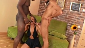 Whore getting anal double teaming