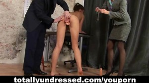 Dildo test for young secretary