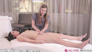 AllGirlMassage Lesbian Ass Rubbing Compilation
