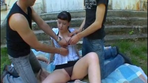 French teen Sarah loves threesome