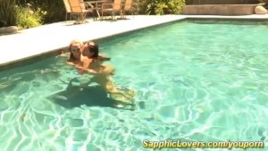 Awesome lesbian sex in the pool with Brett Rossi and Celeste Star