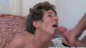Grandma loves anal sex