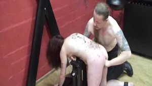 Slave girl fist fucked till she screams