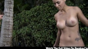 Busty college chicks fucking outside