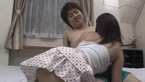 Upskirt sex along milf, Nana Masaki