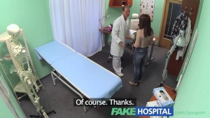 FakeHospital Sweet Doctor gives Valentine s flowers to hot patient