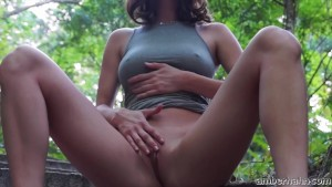 Naked in the park, who picks up the video will bust his pants