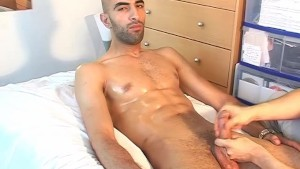 Samir s huge cock gets wanked by a guy despite of himself!