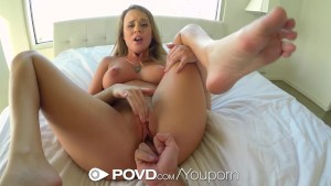 Alexis Adams puts on a show behind the shower glass - POVD