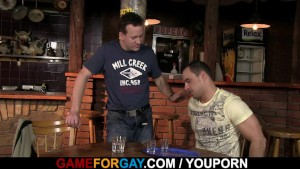 He turns into gay slut boy in the bar