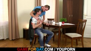 His first gay blowjob and gaysex