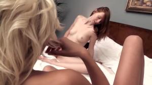 Lena and Linda masturbate in a sensual lesbian session