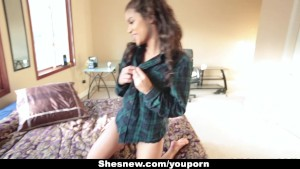 ShesNew - Latina Girlfriend Homemade Sex tape