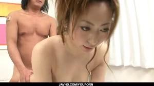 Arisa Suzuhusa Asian milf gets nailed in gangbang