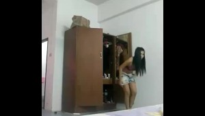 Changing her clothes voyeur