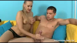 Milf Feels Horny To See Young Guy s Handsome Body