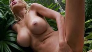 Euro Blonde Puma Swede Masturbates & Cums Poolside!