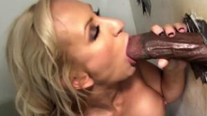 Zoey Portland sucks monster cock at Gloryhole