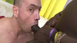 Black Gay Enjoy Bareback With Hot Latino