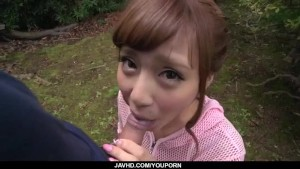 Anna Anjo deals cock in perfect outdoor POV show