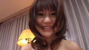 Misuzu Imai tastes her slit juice from finger