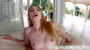Asstraffic Milena Devi leggy brunette gets a dick in the ass for anal sex