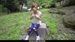 Top rated outdoor POV oral with kinky Mikuru Shiina