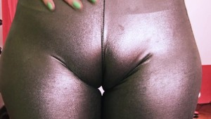 Bubble-Butt Teen Has a Huge Cametoe In Tight Rubber Spandex!