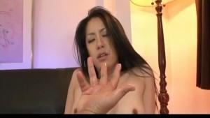 Kyoka Ishiguro topless and in stockings has hairy twat screwed