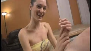 Teen Babe Gets Amazed To See His Lengthy Ropes Of Cum