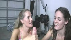 Milf And Teen Wants To Check The Cumshot Of Neighbor Guy