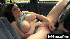 Busty Amber Toy Her Twat