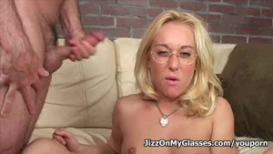 Lovely Blonde babe Goldie Coxx Face Fucked for a massive load on her face