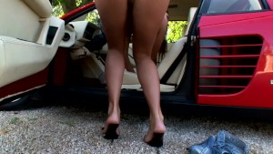 Masturbating on her car - DDF Productions
