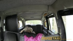 FakeTaxi Anal threesome in London Cab