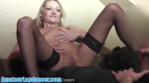 Wild lapdancer does BJ and more