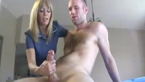 Milf Decides To Give Young Cock Her Hand