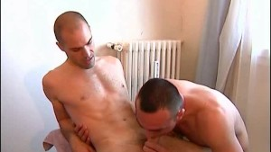 Full video: A nice innocent guy serviced his big cock by a guy!