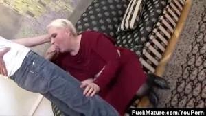 Mature Honey Blowing Two Guys