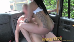 FakeTaxi Brunette likes to workout on cock