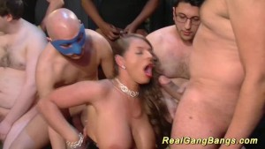 gangbang with big natural breast babe