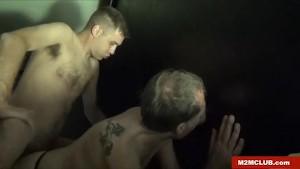 Daddy gang-ganged in the Sauna